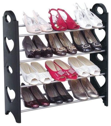Easy Installation Stand For Shoe Plastic shoe rack  Black .