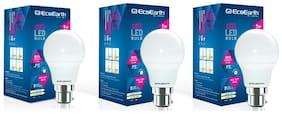 EcoEarth Ace 5 Watt B22 Led Bulb Cool Day Light 6500K - Pack of 3