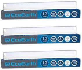 EcoEarth Hexa Led Wall Batten Tubelight 12 Watt Cool White 6500K-1Feet (Pack of 3)