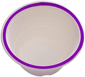 ECOWARE TAAREY:100% Biodegradable, Compostable, Ecofriendly, Disposable 340 ML Bowls  (Blue, Pack Of 25 Bowls)