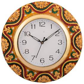 eCraftIndia Brown Wall Clock