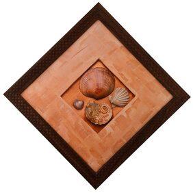 eCraftindia Set Of Shells Satin Matt Texture Framed UV Art Print