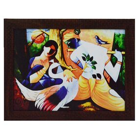 eCraftIndia Abstract Radha Krishna Framed Painting