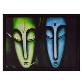 eCraftIndia Abstract Lady Figures Framed Painting