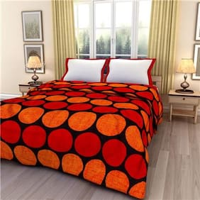 eCraftIndia Poly Dots Single Bed Reversible AC Blanket