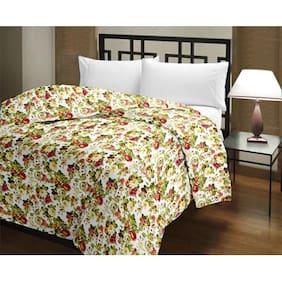eCraftIndia Floral Print Reversible AC Blanket (Dohar)