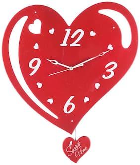 eCraftIndia Red Wall Clock