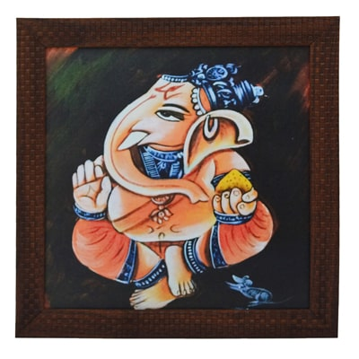 canvas paintings for sale. ECraftIndia Lord Ganesha Design Framed Painting Canvas Paintings For Sale U