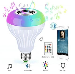 Editrix Led Bulb with Bluetooth Speaker Music Light RGB Light Ball Bulb Colorful Lamp with Remote Control for Home;Bedroom;Living Room;Party Decoration DJ Light