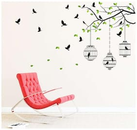 EJA Art flying birds with case Wall Sticker