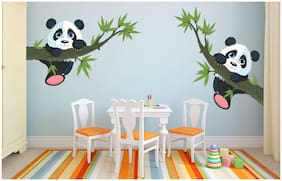 EJA Art Panda Hanging on a branch Wall Sticker