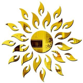 Eja Art Sun 3D Mirror Acrylic Wall Sticker
