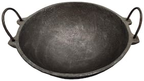 eKitchen Bare Cast Iron Kadai NO.2-9 inch/ 25 cm/Depth : 8 cm