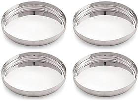 ekitchen Bhalaria Stainless Steel Apple Thali Set of 4 - No:12 (26 cm)