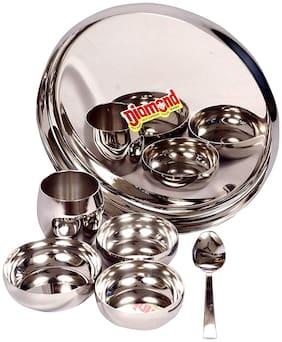 Diamond Stainless Steel Lunch / Dinner Thali Set