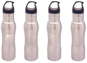 eKitchen Silver Thermosteel flask ( 650 ml , Set of 4 )