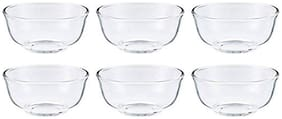 "eKitchen Union Glass Bowl 1320 ml / 7"" Set Of 6 Pcs - UG 349"