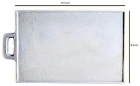 eKitchen Unseasoned Cast Iron Rectangle Dosa Tawa (18*12 inch)