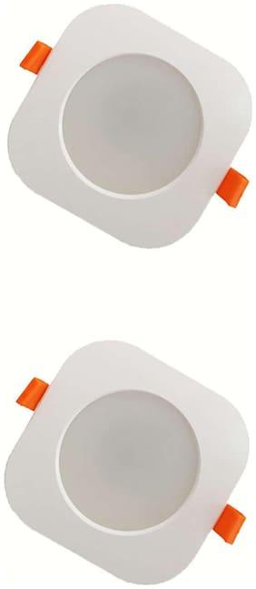 EKRS 12 WATT LED Down Light Warm White Colour Square Shape (Pack of 2)