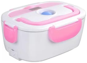 BAZAAR GALI 3 Containers Plastic & Stainless steel Lunch Box - Multi