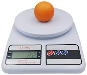 Electronic Kitchen Digital Weighing Scale, Multipurpose (White, 10 kg)