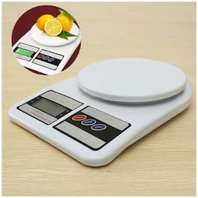 Electronic Kitchen Digital Weighing Scale 10 Kg Weight Measure,White