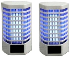 Electronic Mosquito and Insect Killer Cum Night Lamp Set (Pack of 2, Plastic)