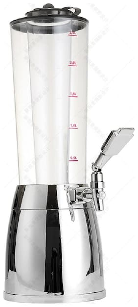 Elite Beer Tower/Dispenser/Decanter for Beer/Whisky/Wine Capacity 2500 ml (2.5 litres) for Party/Home Bar/Gift/Bars/Pubs