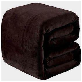 Ellonia All Seasons Light Weight Polar Fleece Single (55X85 Inches) Bed Ac Blanket (Brown)