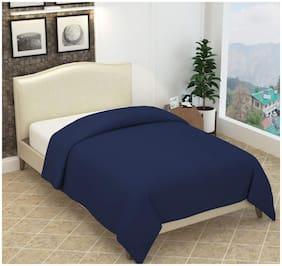Ellonia Solid Fleece Blanket Suitable For Mild Winter (Blue)-Pack Of 1