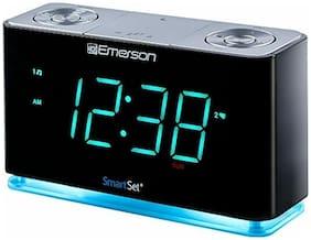 Emerson SmartSet Alarm Clock Radio with Bluetooth Speaker, Charging Station/Phon