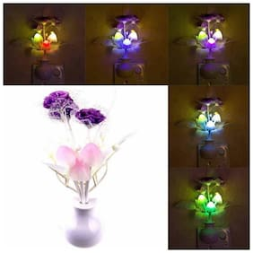 Energy Saving Colour Changing Automatic Sensor Mushroom Shaped Night Lamp