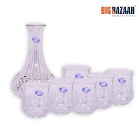 Engatio Crystal 1 Jug & 6 Glass Premium Whisky Serving Set