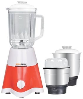 Engix MINI STAR 650W Mixer Grinder ( White & Red , 3 Jars )