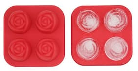 Environmental Silicone Ice Lattice 3D Rose Flower Ice Cube Tray Healthy Kitchen DIY Food Mold