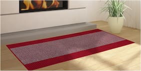 ENYRA Anti-Skid Bed Side Runner (22 inch x 55 inch) Red, Pack of 1