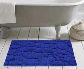 ENYRA Soft Microfiber Anti-Skid Bath Mat (40cm x 60cm)  Royal Blue, Pack of 1