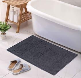 ENYRA Soft Microfiber Anti-Skid Bathmat (40cm x 60cm) Grey, Pack of 1