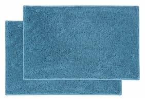 ENYRA Soft Microfiber Anti-Skid Bathmat (40cm x 60cm) Teal, Pack of 2