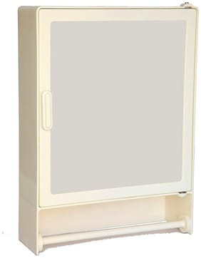 """Epraiser ABS Unbreakable Z-H Bathroom Single Door MINI Cabinet With outside Rod, Size:14""""X4""""X10""""(SMALL)"""
