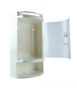 "Epraiser ABS Unbreakable Z-Aq 242 Bathroom Transparent Door Cabinet With Storage Compartment, Size : 17""X5.5""X9.5"""