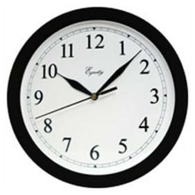 Equity 25203 10 Black Plastic Wall Clock