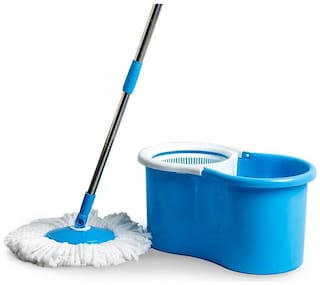 Esquire Elegant Plastic 360° Spin Bucket Mop Set - Blue