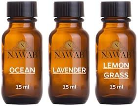essential aroma Diffuser oil(Ocean,Lavender,Lemongrass-15ml each)