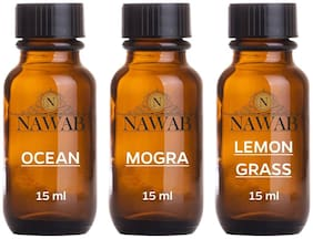 essential aroma Diffuser oil(Ocean,Lemongrass,Mogra-15ml each)