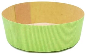 Esslly 500 g Disposable Paper Cake Mould Pan - Green| Free-Standing | Set of 10
