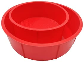 Esslly Silicone Red Baking dishes & pans ( Set of 2 )