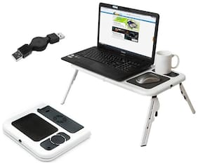 ETable Foldable Laptop Stand With 2 USB Cooling Fans Notebook