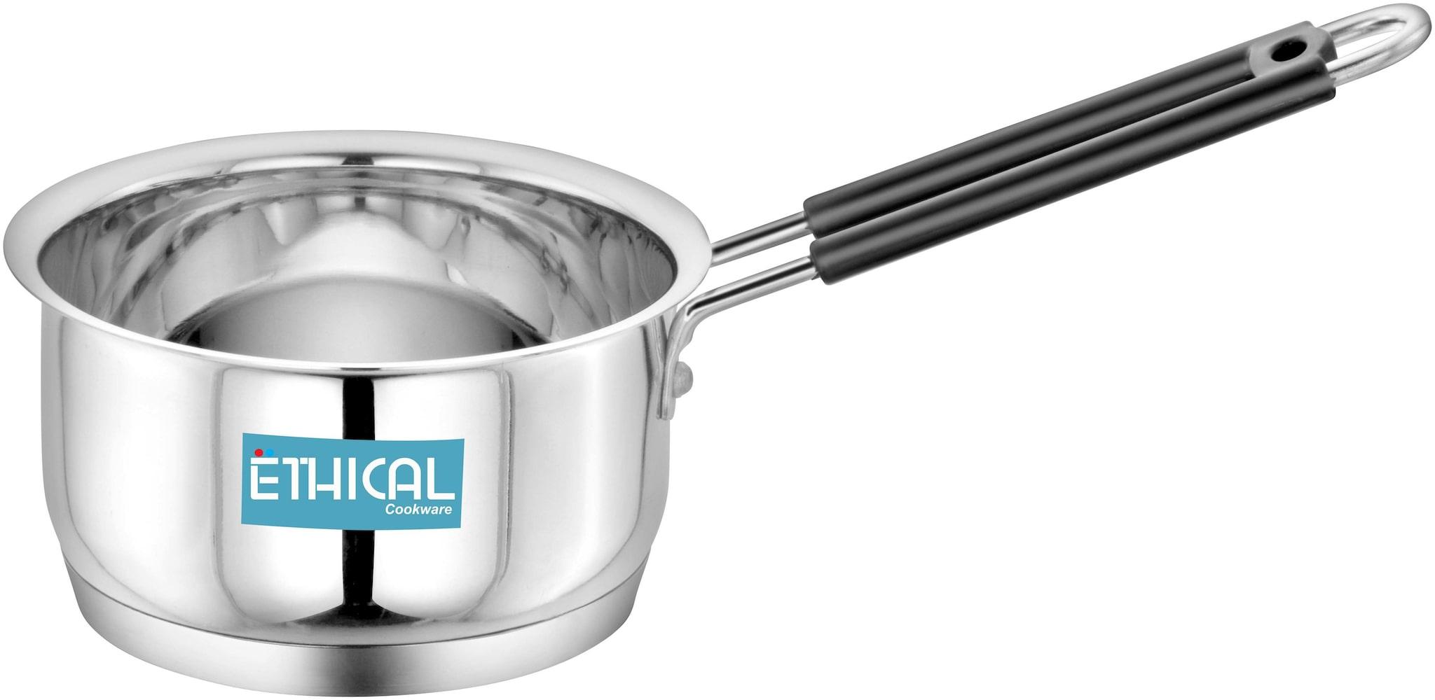 Ethical Fineart Stainless Steel Encapsulated Bottom Sauce Pan 2.10 L / 19 cm diameter