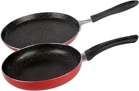 Ethical Mastreo Series without Induction Base Non-Stick Dosa Tawa & Fry Pan cookware Set / 2 Pcs Cookware set.